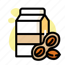 bottle, carton, drink, milk, peanut, sweet
