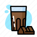 chocolate, drink, glass, milk, sweet