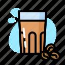 coffee, drink, glass, milk, sweet