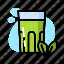 drink, glass, matcha, milk