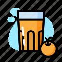 drink, glass, milk, orange, sweet
