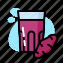 drink, glass, milk, sweet, taro