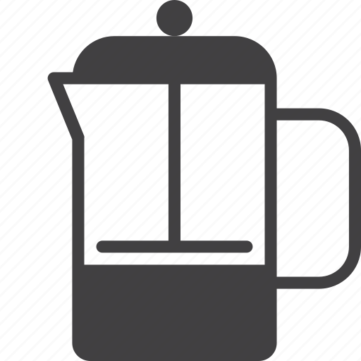 coffee, filter, french, press icon