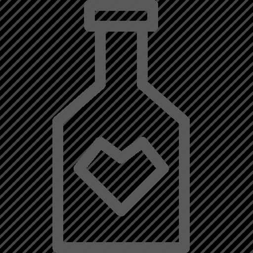 alcohol, beverage, bottle, drink, fluid, heart, russian, vodka icon