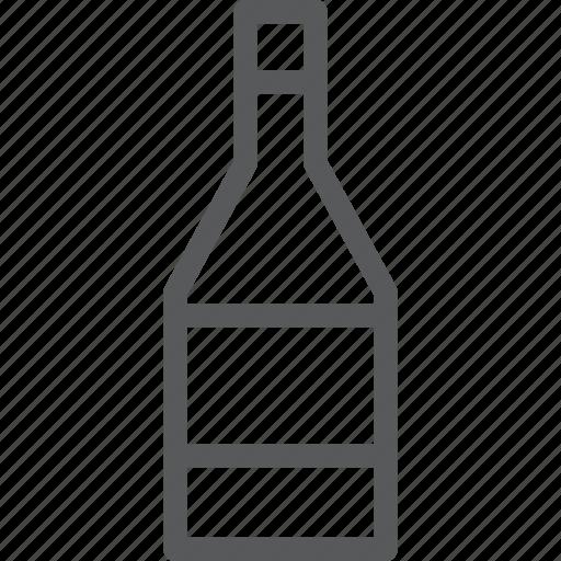 alcohol, bottle, drink, fluid, liquor, wine icon