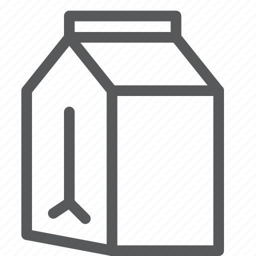 box, carton, drink, fluid, milk, package, paper icon