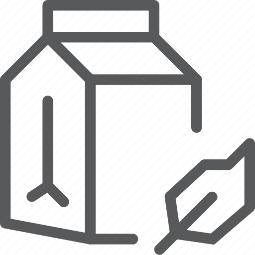 box, carton, drink, fluid, milk, organic, paper icon