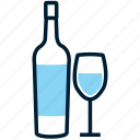 alcohol, beverage, bottle, drink, glass, red wine, wine icon