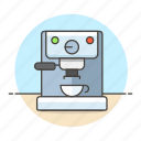 brewing, cafe, cafeteria, coffee, cup, drinks, espresso, machine, shop icon