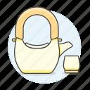 appliance, drinks, kettle, kitchen, pot, set, tea, teakettle icon