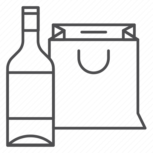 alcohol, bottle, drink, glass, package, wine icon