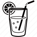 beverage, cocktail, drink, lemon, lemonade, soda icon