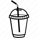 beverage, cafe, coffee, cup, drink, juice, plastic icon