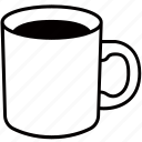 beverage, cafe, coffee, cup, drink, mug icon