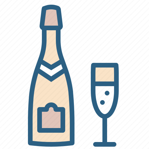 alcohol, bottle, celebrate, champagne, cheers, drink, glass icon