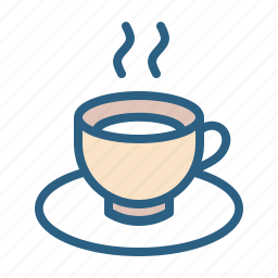 beverage, coffee, cup, drink, hot, saucer, tea icon