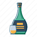 alcohol, beer, beverages, bottle, drink, orange, wine icon