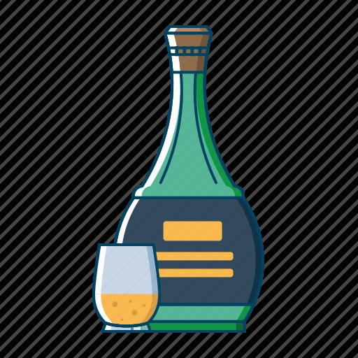 alcohol, beer, beverages, bottle, drink, orange, wine icon