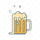 alcohol, beer, beverages, drink, glass, jar, mug icon