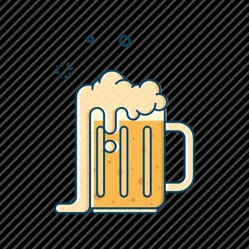 Alcohol, beer, beverages, drink, glass, jar, mug icon - Download on Iconfinder