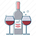 alcohol, beverages, drink, grapes, kingfisher, red, wine icon