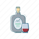 alcohol, beer, beverages, bottle, drink, monk, old icon