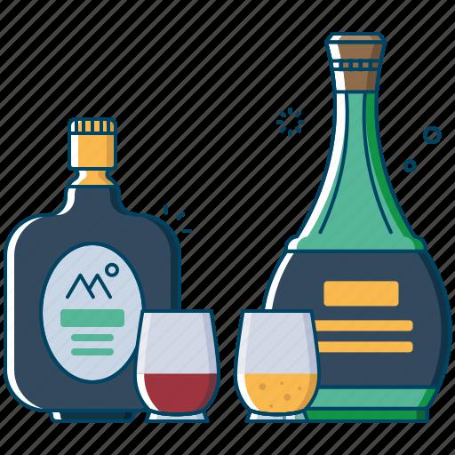 alcohol, beer, beverages, bottle, drink, old monk, vodka icon