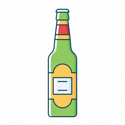 alcohol, beer, beverages, bottle, drink, kingfisher icon