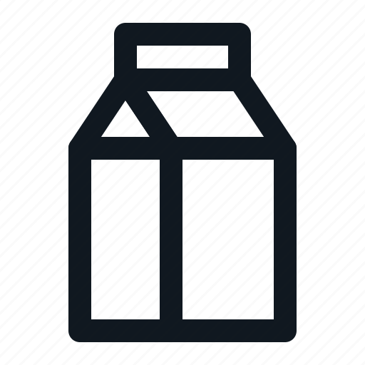 beverage, drink, liquid, milk, tetrapack icon