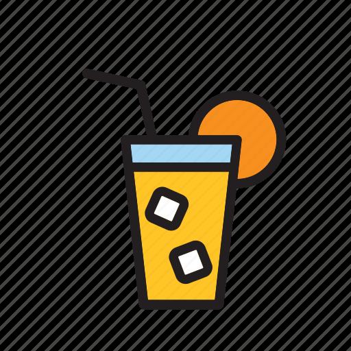 beverage, cocktail, drink, drinking, juice, orange, soda icon