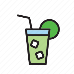 beverage, cocktail, drink, drinking, mojito, soda icon
