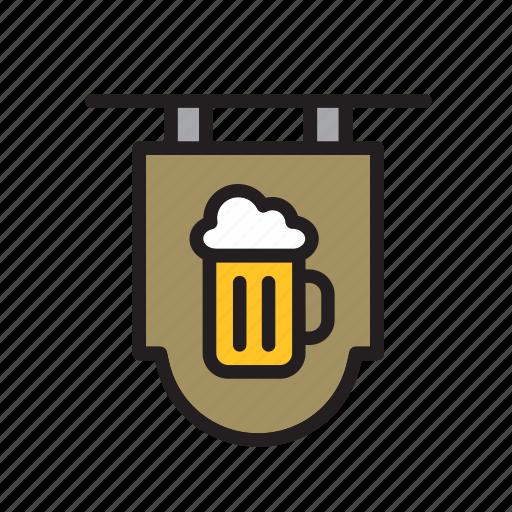 bar, beer, beverage, drink, drinking, pub, sign icon