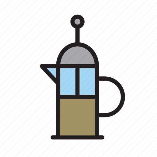 beverage, coffee, drink, drinking, maker, pot, vessel icon