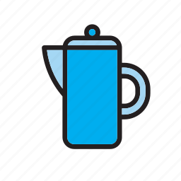 beverage, drink, jar, pitcher, water icon