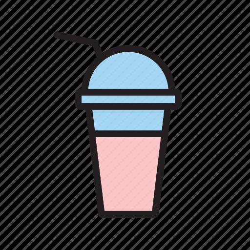 beverage, drink, milk, milkshake, shake, smoothie, strawberry icon