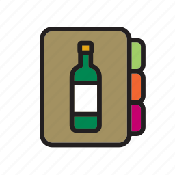 cellar, drink, list, menu, restaurant, wine, winery icon