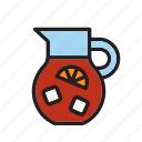 beverage, drink, drinking, pitcher, sangria, soda, summer icon