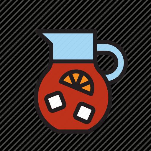 beverage, drink, drinking, pitcher, sangria, soda, summer icon