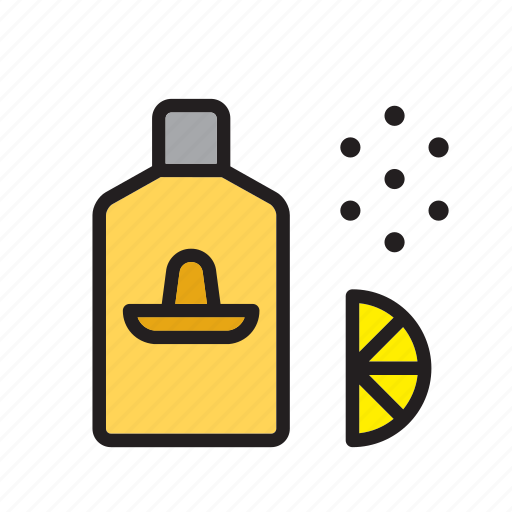 alcoholic, beverage, drink, drinking, lemon, mexico, tequila icon