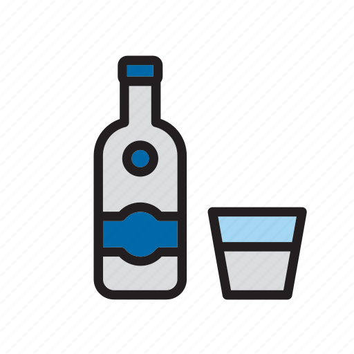 alcoholic, beverage, bottle, drink, drinking, russia, vodka icon