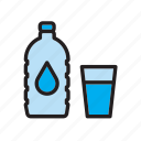 beverage, bottle, drink, drinking, drop, glass, water icon