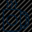 beverage, coffee, drink, espresso, hot, latte, mug icon