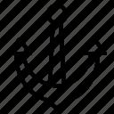 anchor, sea, ship, tool icon