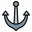 anchor, sea, ship, tool icon