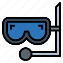 diving, divingmask, sea, snorkel icon