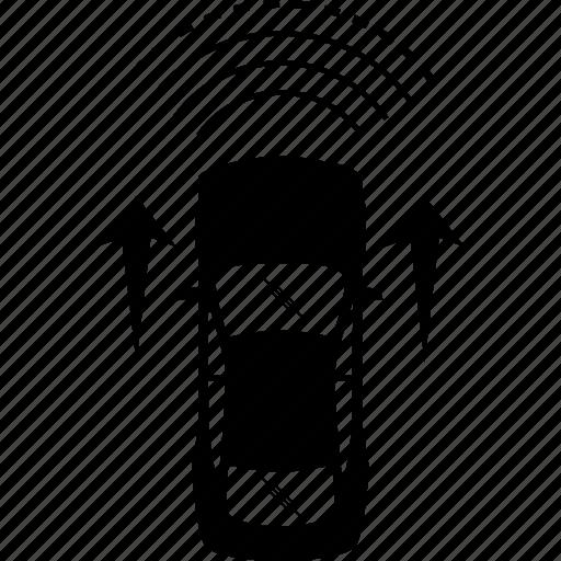 auto, autonomous, car, detection, driverless, self-driving, sensor icon