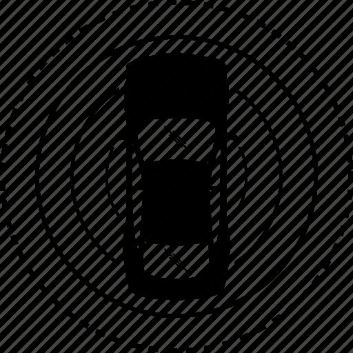 auto, autonomous, car, detect, detection, driverless, sensor icon