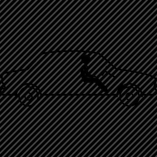 auto, autonomous, car, driver, driverless, electric icon