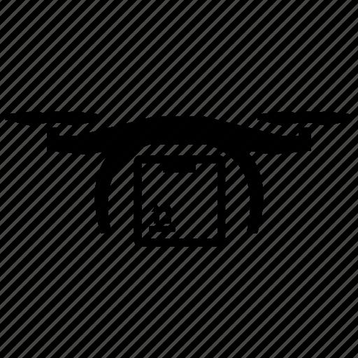 box, delivery, drone icon