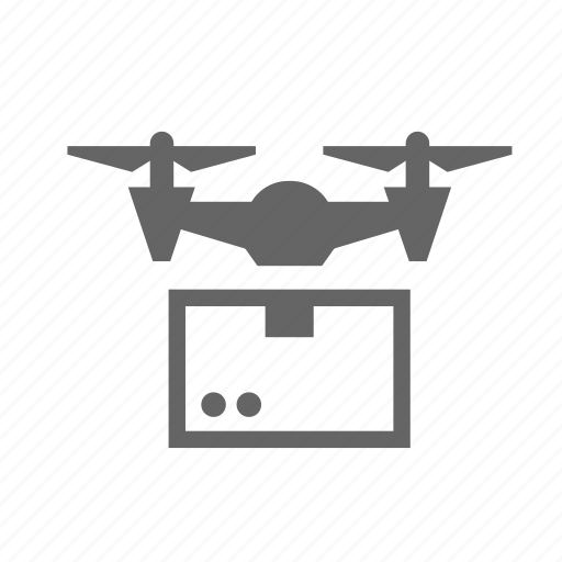 Box, copter, delivery, drone, package, quadcopter icon - Download on Iconfinder